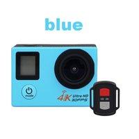 dvr spor kameraları toptan satış-2018-H22R 4 K Wifi Eylem Kamera 2.0 Inç 170D Lens Çift Ekran Su Geçirmez Ekstrem Sporlar Kamera pro HD DVR Kam