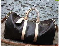 Wholesale Travel Bag Branded - 2016 new fashion men women travel bag duffle bag, brand designer luggage handbags large capacity sport bag 62CM