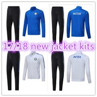 Wholesale Microfiber Jackets - AAA+top quality Milan tracksuit jackets kits 2017 2018 ICARDI KONDOGBIA PALACIO JOVETIC CANDREVR 17 18 Inter tracksuit jackets