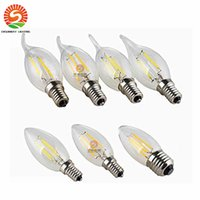 Wholesale Edison Chandeliers - Candle globes bulbs 2w 4w 6w e12 e14 e26 e27 b22 dimmable Led Bulb crystal lamp chandelier warm cool white bright lamp