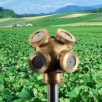 Wholesale Brass Water Nozzles - GardenTools 4 Hole Brass Spray Nozzle Garden Sprinklers Irrigation Fitting Plant Watering Accsessry