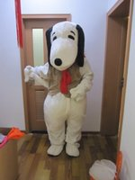 Wholesale Snoopy Mascot Costumes Halloween - Adult Size Snoopy Dog Mascot Costume Halloween Chirastmas Party Fancy Dress Free Shipping Custom Party Dress