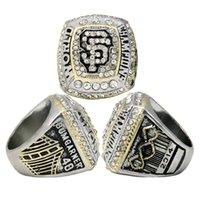 Wholesale European American Fashion Ring - Championship jewelry European and American popular accessories 2014 San Francisco Giants commemorative champion ring fashion rhodium ring