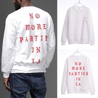 Wholesale- Fashion No More Parteien In LA Kanye West Rundhalsausschnitt Sweatshirt Hip-Hop Tops hoodie S-3XL