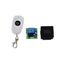 Wholesale Electric Lock Remote Control - Wholesale-New arrival 433MHz 12V 1CH wireless remote control switch+receiver module+shell for electric door lock use for single door-SL312