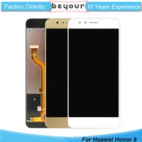 Wholesale Display Huawei - For Huawei Honor 8 LCD Display Touch Screen Digitizer Glass Assembly Replacement AAA Grade No Dead Pixel No Color Aberration