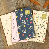 Atacado- Blank Notebook Vintage Cover Folha flor Notebook Journal Diary Gift Retro laptop notebook mini