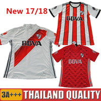 Wholesale Argentina Football Shirt Soccer - 2017 River Plate Soccer Jersey Sanchez Rodrigo Mora Football Shirt 2018 Batistuta Balanta River Plate Club Argentina Red camisas Top quality