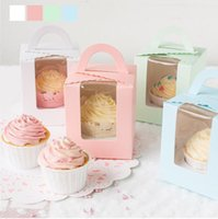 30 pz / lotto Carino Wedding Cupcake Box torta pop forniture involucri del bigné baby shower favori decorazione mariage 9.5x9.5x11 cm