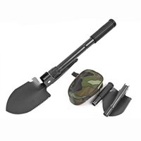 Wholesale Dibble Picks - Multi-function Military Portable Folding Camping Shovel Survival Spade Trowel Dibble Pick Emergency Garden Outdoor Tool 2504093