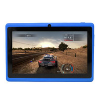 Wholesale android pc tablets swedish - 7 inch android tablet pc Q88, A33, Quad Core, DDR3 512MB ROM 4GB Wifi dual Camera, free shipping