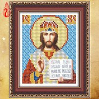 Wholesale Russian Cross Stitch - YGS-115 DIY Round Diamond Painting Cross Stitch Kits 5D Diamonds Embroidery New Russian style of Peter the Great Diamond Mosaic