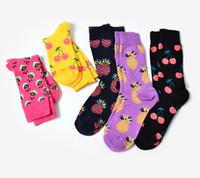 Wholesale Fruits Price - wholesale cheap price cotton jacquard fruit socks women fashion cute pineapple cherry lemon food socks new design lovely novelty socks