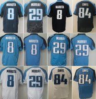 Wholesale Cheap Stitched Sports Jerseys - Cheap 8 Marcus Mariota Jersey Men Navy Blue White 29 DeMarco Murray 84 Corey Davis Color Rush Limited Jerseys Sports All Stitched Quality