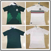 Wholesale Cheap Soccer Shirts Wholesale - Mexico jersey Thailand Quality Mexico home away 2017 18 green white CHICHARITO G.DOS SANTOS soccer Custom Shirt Cheap jerseys Uniforms