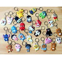 Wholesale Men Marine Ring - 29 Models Phone Accessories Cartoon Rings Trinket Soft PVC Keychain Minions Marines Key Holder Key Chains Finder Souvenirs Gift