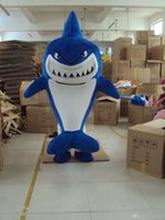 Wholesale Shark Mascot Suit - NEW Shark Mascot Costume Fancy Dress Adult Suit Size R578