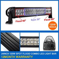 "Wholesale Spot Flood Combo 4wd Led - 120W 22"" Spot Flood Combo Beam LED Light Bar Working Light Roof Front Headlight For Truck Jeep Off-road 4WD Car Boat Driving light 12V 24V"