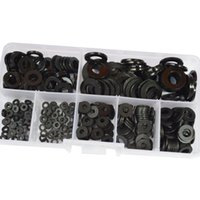 black nylon washer - Good quality Nylon Flat Round Washer M2 M2 M3 M4 M5 M6 M8 Assortment Kit Black