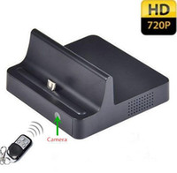Wholesale Dock Video - HD 720P Dock Charger Spy Camera Phone Charging Dock Hidden Pinhole Camcorder Motion Detection Audio video recorder Real Charger for Samsung