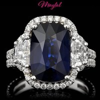 Wholesale Gold 18k Diamond Certified - MAYTAL JEWELRY GIA   BHGL $94300 CERTIFIED 18K GOLD 6CTW SAPPHIRE DIAMOND RING