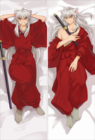 Wholesale Hug Pillows - Wholesale- Pillow Case Japan Anime Hugging Body Pillow case Peach Skin 150*50 NK086 Inuyasha