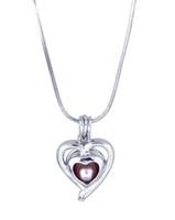 ingrosso alta gabbia-Ciondolo cuore gabbia di alta qualità Hollow aperto Amore Perla Oyster Beads Locket Charm Per collana braccialetto Gioielli fai da te Fare all'ingrosso Bulk