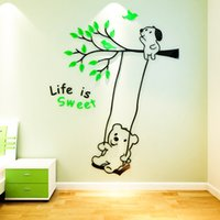Wholesale Large Decorative Mirrors - Acrylic Material Wall Stickers 3D Wall Stickers Modern Style Design Decorative Wall Stickers For Home Living Room Decor