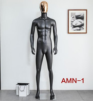 Wholesale Black Mannequin Body - freeshipping! 1PC 4colour Electroplating face full body models props, high-grade male black matte clothing display human mannequin B463