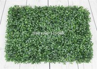 Wholesale Artificial Hedge Fence - 20pcs 60x40cm Artificial Boxwood Hedges Panels Decorative Garden Grass Fencing Sythenic Buxus Boxwood For Garden Decoration