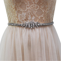 Wholesale Vintage Rhinestone Belts - Vintage Bridal Sashes Crystal Beaded Ribbon Bridesmaid Belt Sashes Wedding Dresses Sashes Belts Handmade Wedding Sash