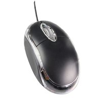 Wholesale Office Works Computers - Larvirgo 2017 1200DPI 2 Buttons MINI Wired Mouse Optical office work Mouse lighing blue for PC Laptop Computer