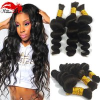 Wholesale micro hair for braiding resale online - Unprocessed Brazilian Loose Wave Micro mini Braiding Bulk Hair A Grade Human Hair For Braiding Bulk No Attachment Human Braiding Hair Bulk