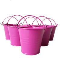 Wholesale Small Boxes For Wedding Favors - D6XH5CM Cheap Metal Pail Favors cute Mini Buckets tin candy box small pail for Wedding Party Supplies