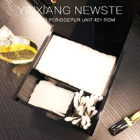 Wholesale High Grade Cotton - Famous brand classic high-grade acrylic Makeup cotton storage box cosmetic Multifunction storage Cotton swabs box with LOGO(Anita Liao)