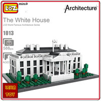 Wholesale Education Toy House - LOZ ideas Mini Block The White House United States Presidential Palace ABS Architecture Building Blocks DIY Toy Model Education Toys 1013