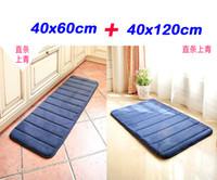 Wholesale Kitchen Rugs Set - Wholesale-1set=2pcs 40x60cm&40x120cm Slow Memory Kitchen Mat Set Home Decoration Foam Area Rug Long Corridor Carpet