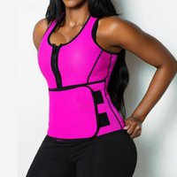 Wholesale Wholesale Body Shapers Top - Wholesale- Women Hot Neoprene Firm Shaper Body Slimming Waist Trainer Belt Sleeveless Burning Calories Shapers