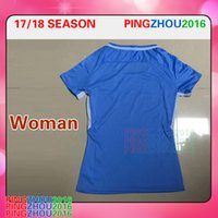 Wholesale Women Stones Shirt - 2017 2018 Women's Man City Soccer Jerseys Lady home Shirt 17 18 KUN AGUERO Football Shirts STERLING STONES women shirts free DHL