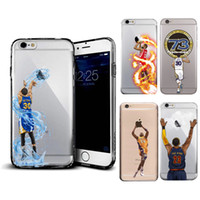 Wholesale apple basketball - For Iphone 6 6S Plus 7 7Plus Case Basketball Player Curry James Harden 73 Victory Pattern Soft Back Cover Coque Fundas Phone Cases