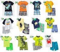 Wholesale Baby Underwater - Baby Pajamas Summer Underwater world Boys Pajamas Short Sleeve Cotton Pajamas Shirt+Short Pants 2PCS Sets Children Homewear For 1~6 Y
