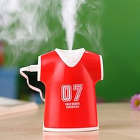 Wholesale New Type Shirt Design - 2017 New Creative Design Polo Shirt Humidifier 100ml Air Humidifier USB Ultrasonic Humidifier Mist Maker with Free Shipping