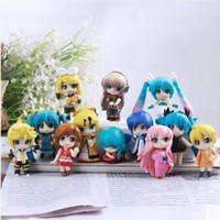 Wholesale anime figure vocaloid - Vocaloid HATSUNE MIKU Family Figures Rin Len Ruka Kaito Meiko Anime Figure Toys 12pcs set No Box Only OPP Bag