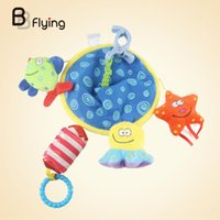 Wholesale Cartoon Baby Cot - Wholesale- Cot Hanging Underwater World Rattle Bell Bed Crib Cute Cartoon Toy Gift Baby