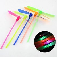 Wholesale Glow Lights Helicopter - New Flash toys LED dragonfly luminous dragonflies Flying Helicopter Umbrella fairy colorful light Holiday LED flying toy glow Light