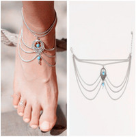 Wholesale Sexy Sandals For Women - Vintage Sexy Beach Anklets For Women Bohemian Ankle Bracelet Cheville Barefoot Sandals Pulseras Tobilleras Foot Women Jewelry 2017 Summer
