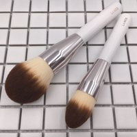Wholesale Finished Wood - LA MER THE POWDER & FOUNDATION BRUSH - Soft Synthetic Hair Large Powder for quick finish - Beauty Makeup Brushes Blender