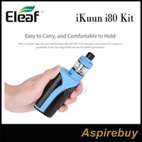 Wholesale Internal Screens - Eleaf ikuun i80 Kit 80W iKuun i80 Mod with Melo 4 Atomizer Sustainable 3000mah Internal Battery 2A Quick Charge 0.91 Inch Screen 100% Genius