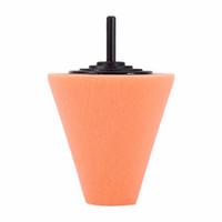rad-polierwerkzeuge großhandel-Großhandels-1PCS Sponge Cone Metall Polierschaum Pad Wolle Polieren Polieren Ball Auto Radnabe Pflege Polieren Werkzeug