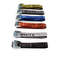 Wholesale Women Motocycle - 2018 top quality off white best design canvas belt off white virgil abloh motocycle bomber biker men belt you cut me off-white